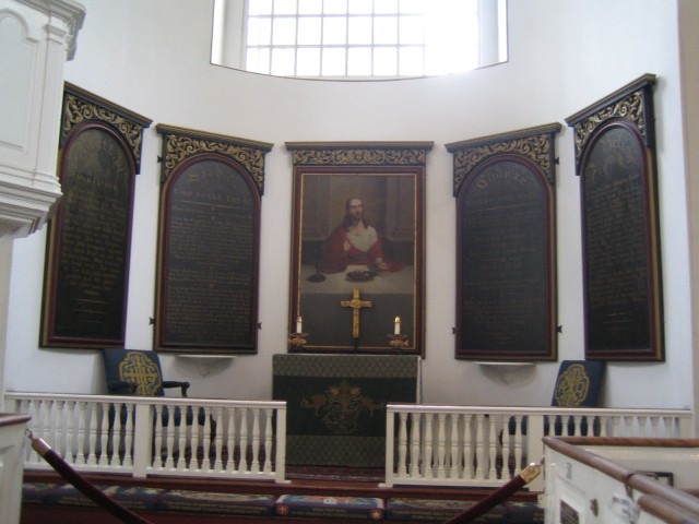 Boston - Altar area of Old North Church
