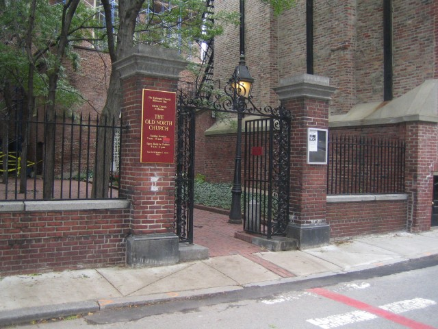 Boston - Entrance to Old North Church