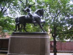 Boston - Statue of Paul Revere's anatomically correct horse. The Puritans were appalled!