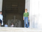 Glenda at Lincoln Memorial