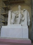 The Lincoln Memorial is under renovation
