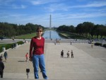Donna in front of Reflecting Pool
