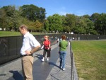 Glenda looking at Vietnam Memorial