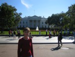 Donna in front of White House