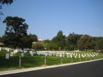 A sea of headstones at Arlington