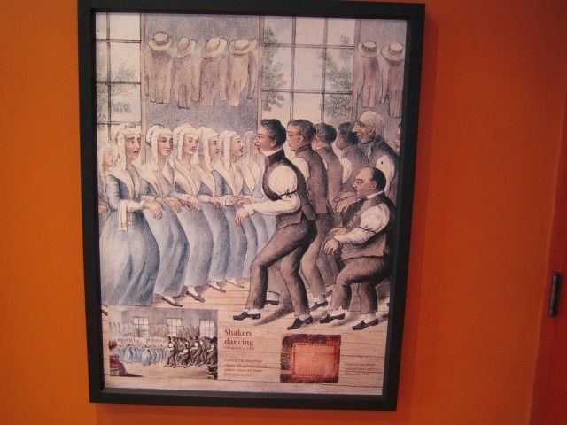 Museum Display of Shaker Dance