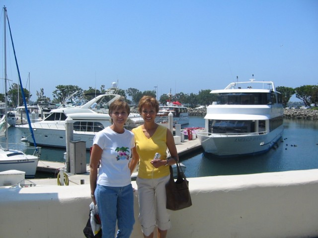Donna and Glenda on wharf at Seaport Village