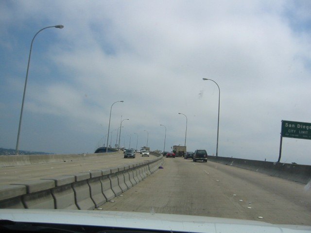 On the bridge to Coronado Island