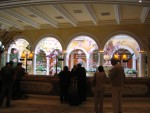 The front desk at the Bellagio