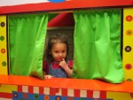 Savannah Colvin in a play house