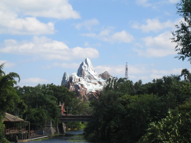 Everest, the newest ride at Animal Kingdom (under const)