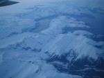 Flying into Alaska at midnight