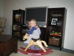 Steven on his rocking horse