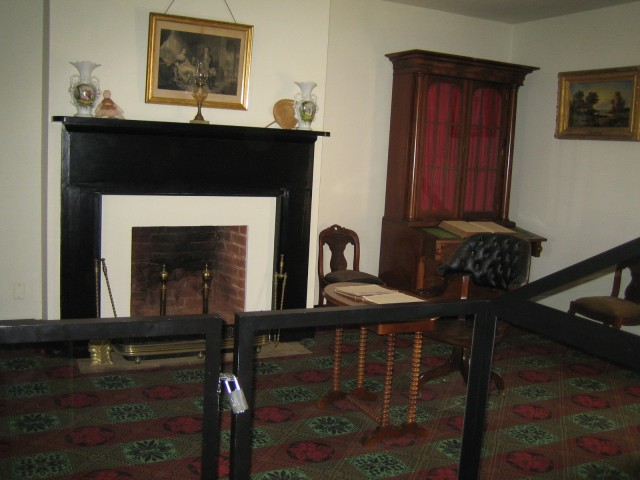 The parlor of McLean house