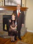 Dressed up for the Daddy/Daughter dance