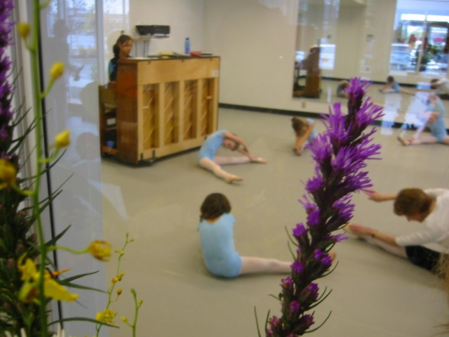 Megan at ballet class in Anchorage