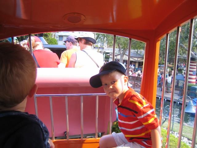 Riding on Casey Junior