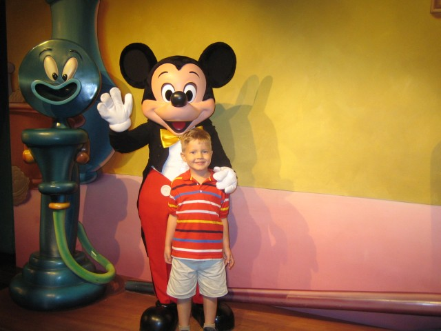 Nathan with Mickey Mouse