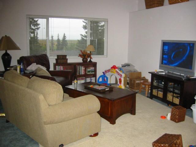 Living room in the duplex with Ken's plasma TV