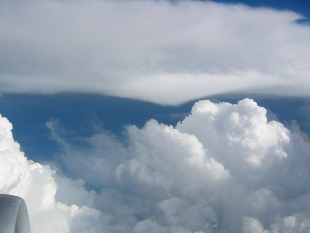 The clouds were so beautiful on the flight, I took some pictures.