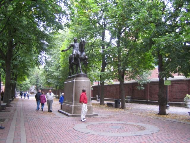 Boston - Statue of Paul Revere