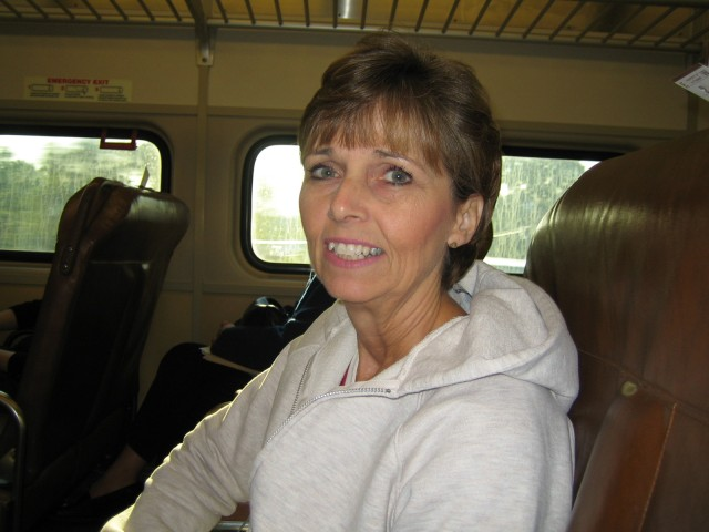 Donna on the train