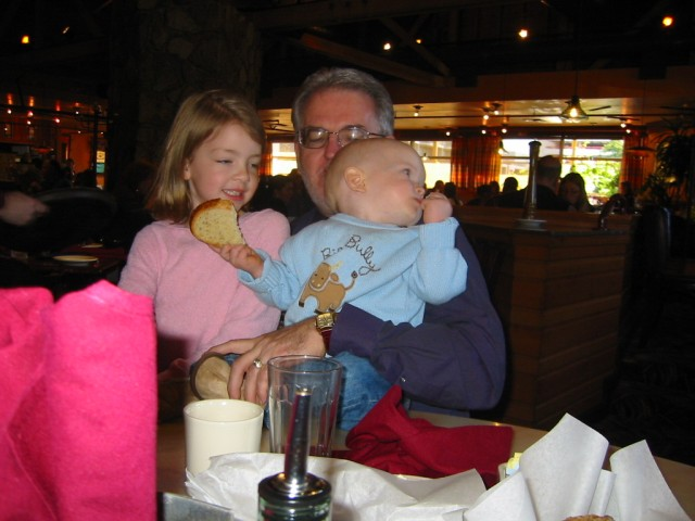 Poppy with the kids at Glacier Brewhouse
