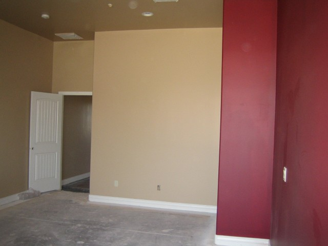 Master bedroom, accent wall
