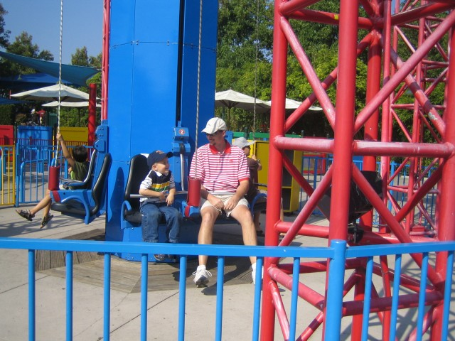 Nathan and Brian on the pulley ride