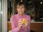 Freeport, Maine - Donna with lobster roll
