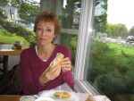 Freeport, Maine - Glenda with Lobster Roll