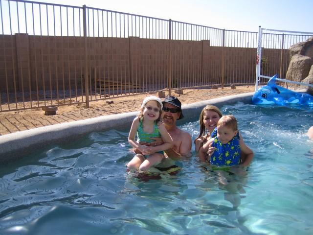 Lauren, Poppa, Carrie & Nathan