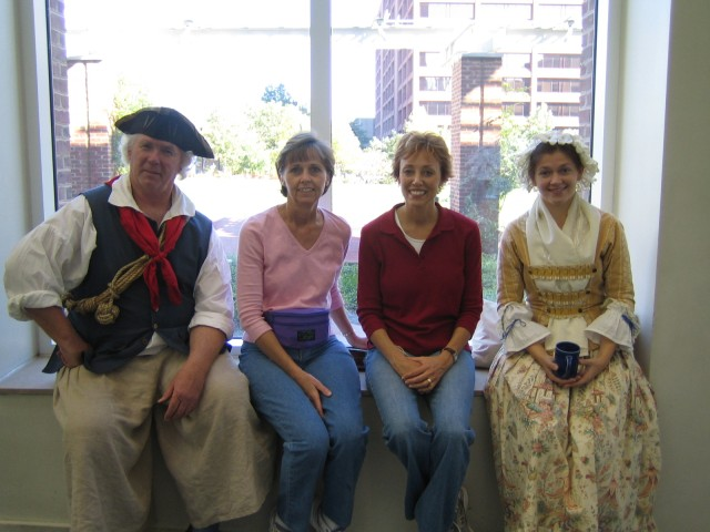 Characters at Independence Hall