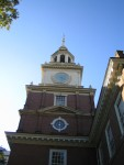 Clock Tower on Independence Hall