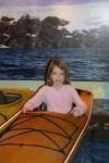 Megan in the canoe