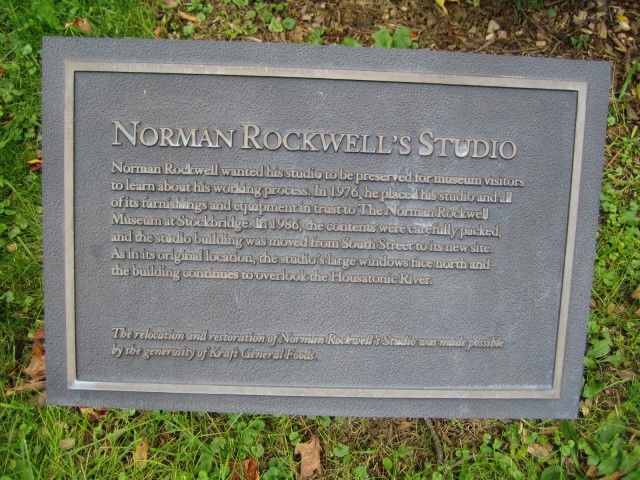 Plaque at Rockwell Studio