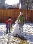 Steven and Megan's snowman
