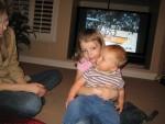 Megan holding Carsten