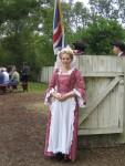 An actress at Williamsburg