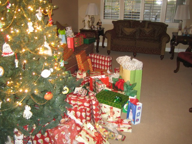Gifts under Brian & Carrie's tree