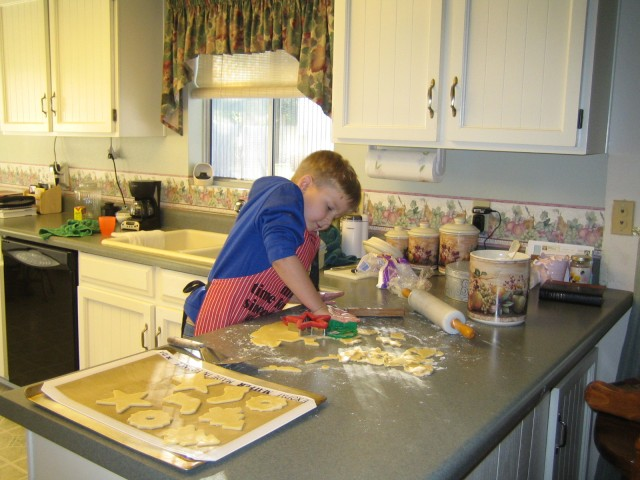 Nathan helps Nonna make cookies