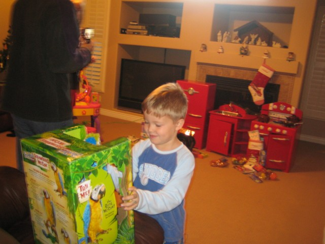 Nathan on Christmas morning. (Lauren's kitchen behind him)