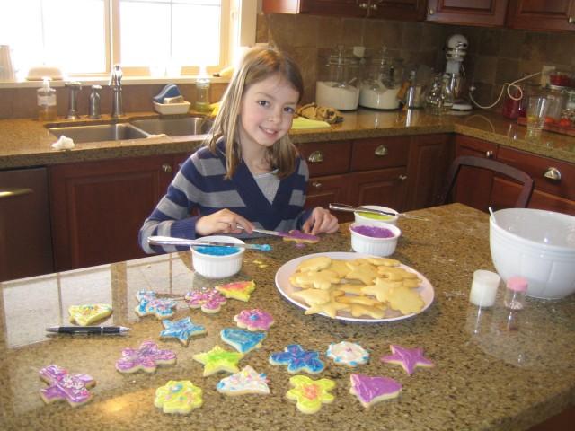 Megan frosts cookies
