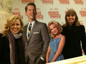 As you can see, Kristin Chenweth and Sean Hayes were kind enough to pose with Robin and me for a picture.