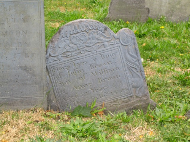 Boston - Headstone in Copp's Hill I thought it was weird to see