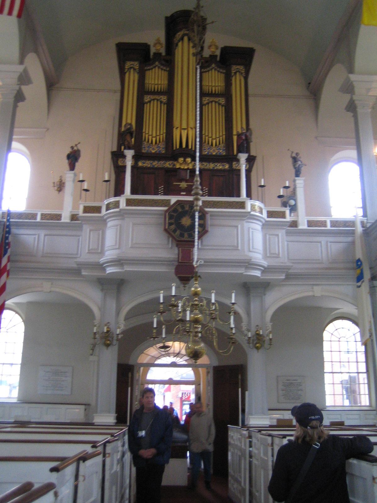 Boston - Organ Pipes in Old North Church