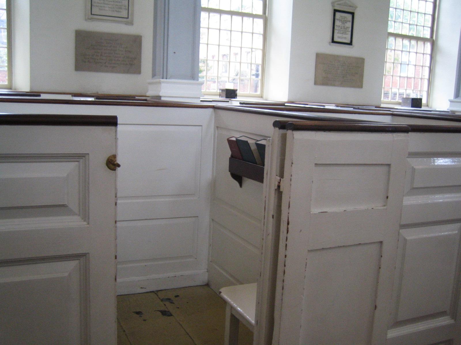 Boston - Pew Box in Old North Church