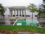 Plymouth Rock from across the street