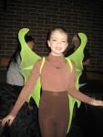 Megan as a katydid in Charlotte's Web