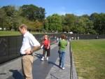 Glenda looking at Vietnam Memorial